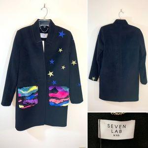 Seven Lab NYC black coat.  Size XS